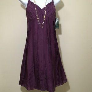 Lauren Ralph Lauren Purple Sundress Size8P NWOT